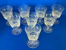 More details for 8 webb thomas crystal warwick small wine glasses, signed 11.8 cm tall