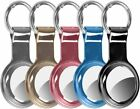 5 Pack Airtag Case, Slim TPU Air Tag Holder with Anti-Lost Keychain, Case for Ai
