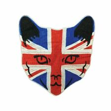 Union Jack Cat (Sew On) Embroidery Applique Patch Sew Iron Badge