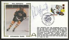Phil Esposito Signed NHL 75th Anniv Gateway Stamp Envelope Canada FDI Postmark