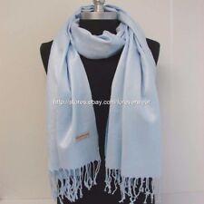 Women Soft Solid Light Blue PASHMINA/Cashmere Classic SHAWL Scarf Stole WRAP#21
