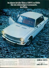 Simca-1301S-II-1971-Reklame-Werbung-genuine Advert-La publicité-nl-Versandhandel