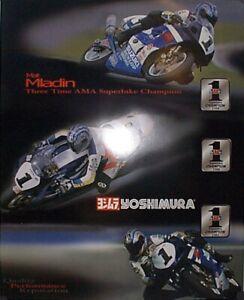 Vintage Poster Yoshimura Suzuki GSXR Matt Mladin 2001 Superbike Champion 3 Time