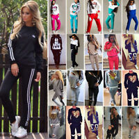Women Tracksuit Hoodie Sweatshirt Pants Set Jogger Sportwear Casual Sweatsuit2PC