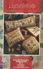 Christmas Lizzie Kate Flora McSample's 2016 Treats Cross Stitch Charts