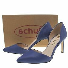 Schuh Magnetic Blue Womens Low Heels Shoes SIZE UK 7