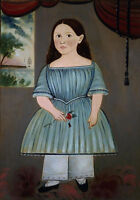 "perfect 24x36 oil painting handpainted on canvas ""Girl Holding a Rose""N10428"