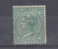 Mauritius QV 1880 6d Green SG65 Cat £260 MLH J4814