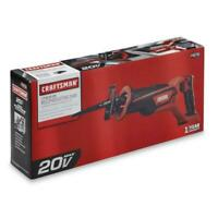 CRAFTSMAN 125.RS20A 20V 20 VOLT CORDLESS RECIPROCATING SAW W/BLADES - NEW SEALED