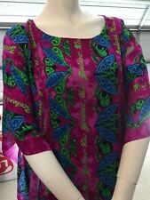Maori  Design Kaftan Dress fits plus lady - purple