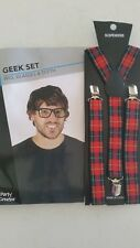 Geek Accessory pack - suspenders, wig, teeth and glasses!
