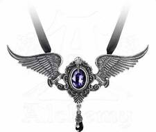 My Soul From The Shadow Pendant - Alchemy Gothic Raven/Edgar Allen Poe Jewellery