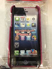 Rubberized Grape/Titanium Hot Pink MyDual Phone Cover Case for iPhone 5s/5 SE