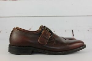 Barrie Ltd Men's Brown Sz 9.5 Monk Strap Dress Shoes Buckle