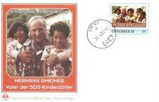 2 Rare Sos Kinderdorf First Day Covers Canceled In Austria (Imst & Innsbruck)