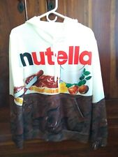 Nutella hoodie Fashion Men Women Chocolate 3D Print Pullover Hoodie white red