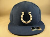 NFL Indianapolis Colts Reebok Size 7 3/8 Fitted Hat Cap Blue