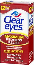 Clear Eyes, (Maximum Redness Relief) Eye Drops, 0.5 Fl Oz (15 mL)