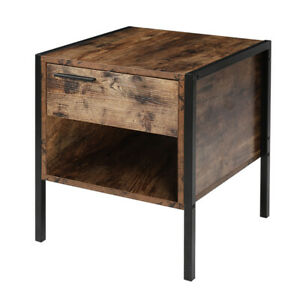 Shabby Chic Wood Effect Bedside Table Drawer Chest Bed Side Cabinet Nightstand