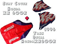 KIT SEAT COVER & TANK DECALS HONDA XR600R, XR 600R 1996,FREE SHIPPING!!