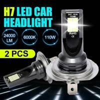 2x H7 CAR LED Headlight Kits 110W 20000LM FOG Light Bulbs 6000K Driving DRL Lamp