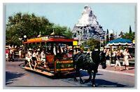 Vintage 1960's Disneyland Postcard Lot of 2 Cable Car & Sleeping Beauty Castle