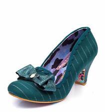 Irregular Choice 'Kanjanka' (AD) Dark Green Mid Heel Bow Shoes Loads More Styles