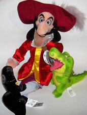 "DISNEY STORE Authentic Original Captain Hook 19"" Stuffed Plush Toy Peter Pan"