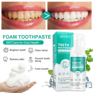 1X Teeth Whitening Soda Toothpaste Mousse Stains Removal Deep Oral Cleaning Foam