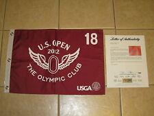New listing Webb Simpson signed 2012 Us Open Pga Tour Golf Flag Psa/Dna Letter