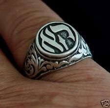 Judaica Kabbalah Ring unisex for Lucky Success Protection  Productivity Silver