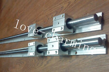 2X SBR20-1400mm LINEAR RAIL SUPPORTED 20MM GUIDE SHAFT +4 SBR20UU BEARING BLOCK