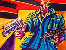 ARNOLD SCHWARZENEGGER PRINT poster the terminator movie sarah conner uzi pistol