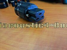 1x HIFI Red Copper Rhodium Plated 20A IEC Female power Plug Connector