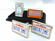 BACK TO THE FUTURE NUMBER PLATE FLUX PERFECT 2015 BADGE MENS CUFFLINKS GIFT
