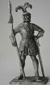 MEDIEVAL KNIGHTS Captain of landsknechts Metal Figure 1/32 Tin Toy Soldiers M178