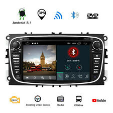 "7""Android 8.1 Car DVD/CD/USB/SD/RDS Player GPS Ford Focus Mondeo S/C-Max Galaxy"