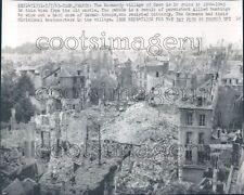 1965 WWII War Damage Ruins Village of Caen Normandy France Press Photo