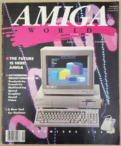 Amiga World Volume 1 Number 1 Premiere 1985 Edition Computer Magazine A1000 1000
