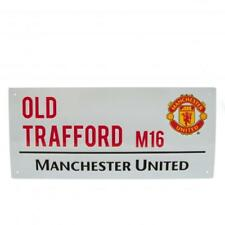 Manchester United FC Official Crested Metal Street Sign Old Trafford M16 Present