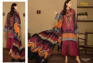 Unstitched Pakistani Indian Cotton Suit Dress Fabric Eid Bridal kameez lawn