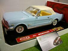 FORD MUSTANG cabriolet fermé bleu 1/18 MIRA 6140 voiture miniature de collection