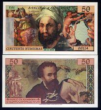Kamberra, 50 Numismas, 2015, UNC > Michelangelo