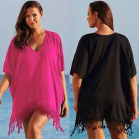 Plus Size Womens Bikini Cover Up Beachwear Swimwear Kaftan Bathing Dress Summer