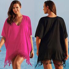 Ladies Summer Beach Bikini Cover up Kaftan Batwing Swimwear Dresses Plus Size