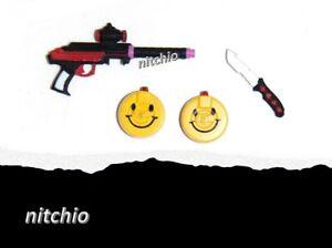 Mezco One:12 HARLEY QUINN PX – KNIFE & MACHINE GUN / TOMMY GUN WITH CLIPS