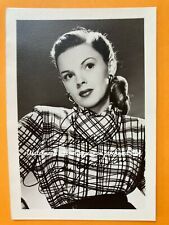 Vintage 1940s Film Actress JUDY GARLAND postcard sized photo blank reverse