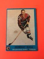 Murray Hall 1962-63 Topps Hockey Card #43 Chicago Black Hawks