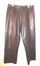 Size 16 Style & co. Collection Lined Black Leather Womens Pants 34W x 28 Inseam