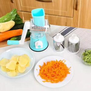 Râpe à fromage rotative à manivelle en acier inoxydable Veg Food Chopper Shre D1